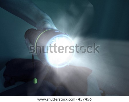 Light in the Dark - stock photo