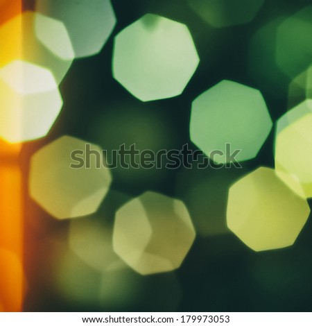 Light leaked bokeh vintage background- square size image - stock photo