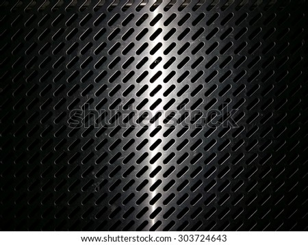 light line on metal template background . - stock photo