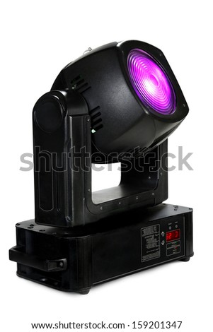 light moving head for event and concert stage on isolated background - stock photo