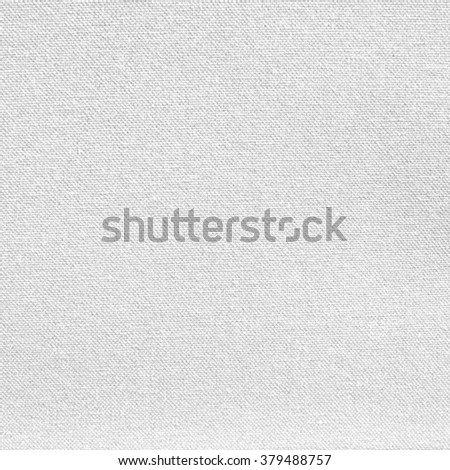 light natural linen canvas texture for the background white - stock photo