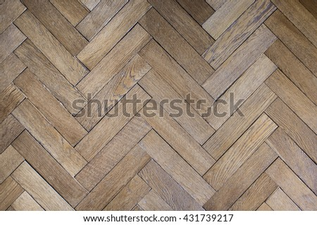 light oak flooring, hardwood flooring, oak flooring - stock photo