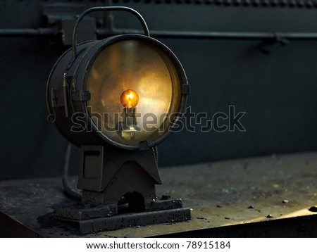 Light on locomotive - stock photo