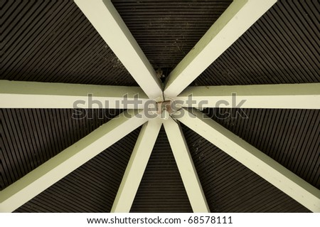 Light on the roof - stock photo