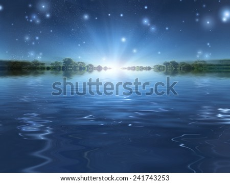 Light over the horizon - stock photo