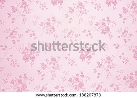 light pink floral design background - stock photo