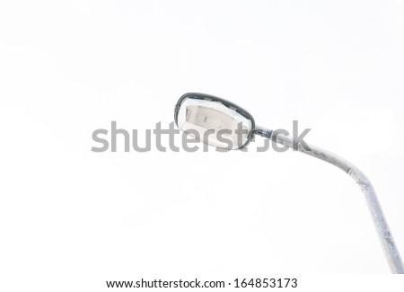 Light pole isolated on white background - stock photo