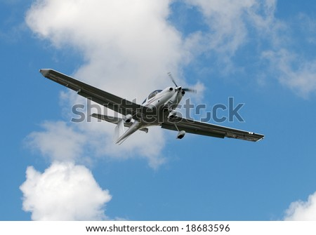 Light private airplane for recreational use - stock photo