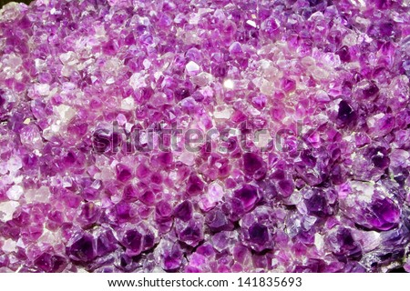Light Purple Amethyst Cluster Background - stock photo