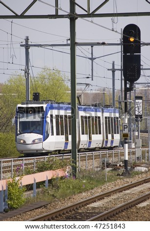 Light-Rail - stock photo