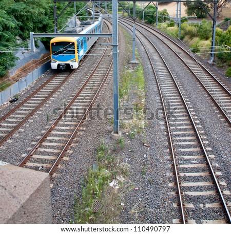 Light Rail Train In South Yarra, Melbourne, Australia - stock photo