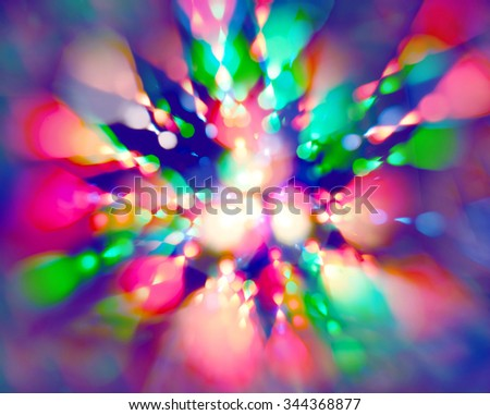 Light rays on black background - laser effect - stock photo