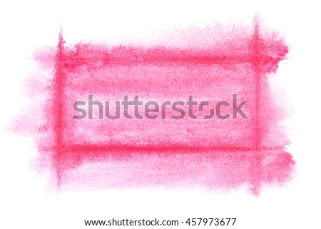 Light red watercolor frame - abstract  background or space for your own text - stock photo