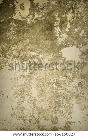 Light Sepia Grunge Background, a dirty wall - stock photo
