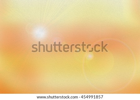 Light source of solar rays (sun) and lens flare of sunlight - illustration (background) - stock photo