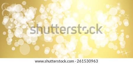 Light spheres website header/banner - stock photo