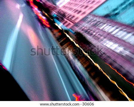 light streaks - stock photo