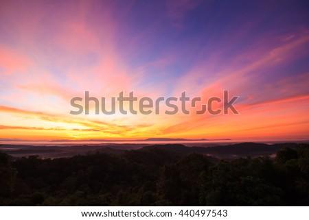Light sunrise - stock photo