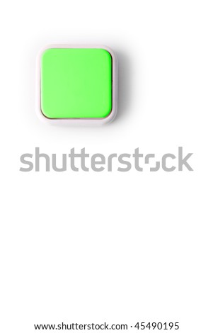 Light switch as green energy concept isolated on white - stock photo