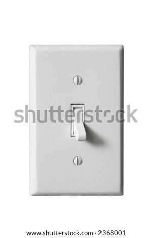 Light Switch (Isolated) - stock photo
