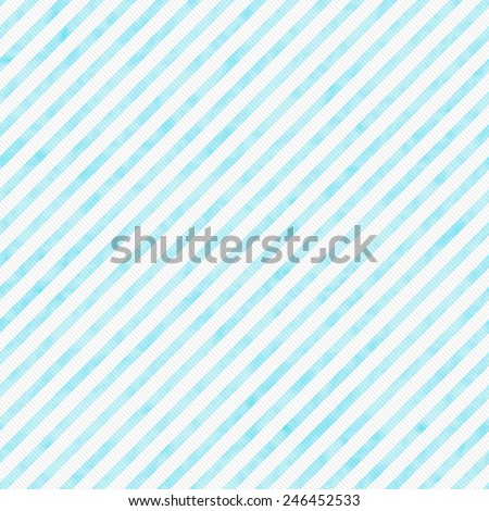 Light Teal Striped Pattern Repeat Background that is seamless and repeats - stock photo