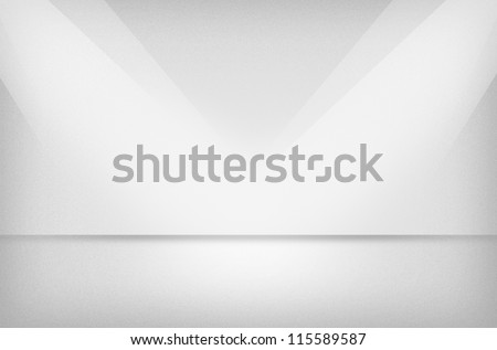 Light texture or background with spotlight - stock photo