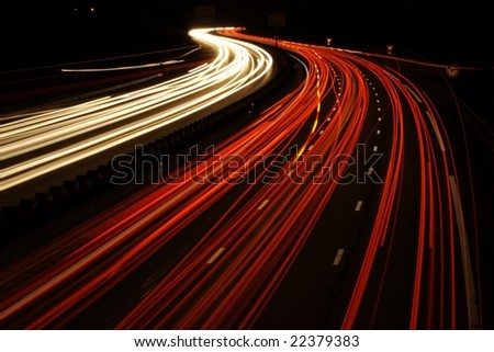 Light Trails of car-2 - stock photo
