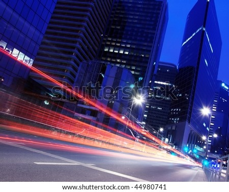 Light Trails of car - stock photo