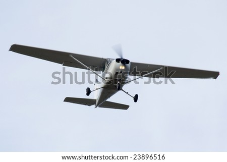 Light turbo-prop airplane - stock photo