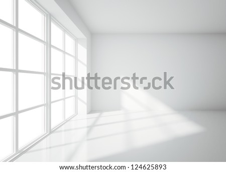 light white room with window - stock photo