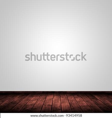 light wooden interior room. - stock photo