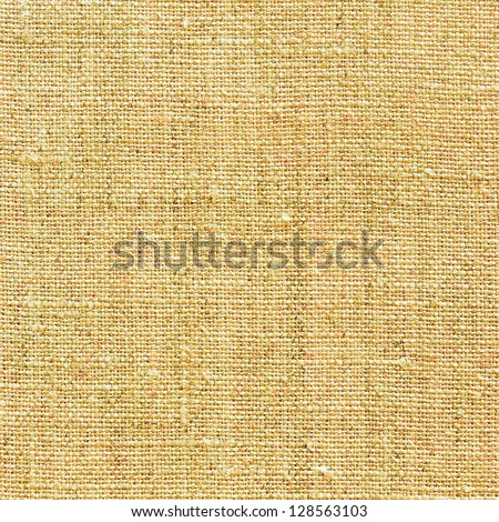 light yellow natural linen texture for the background - stock photo