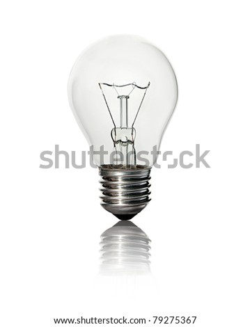 lightbulb isolated on white background - stock photo