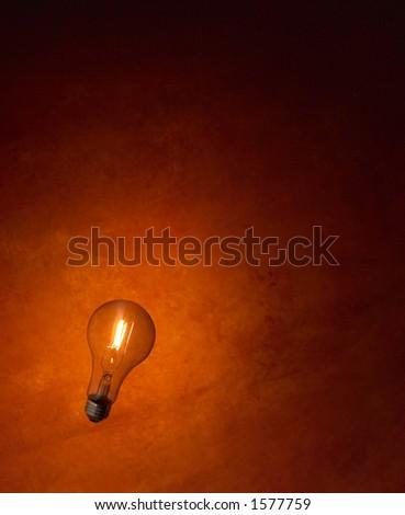 Lightbulb turned on. - stock photo