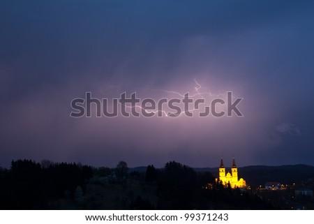 lightening bolt - stock photo