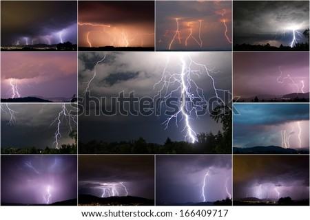 lightenings - stock photo