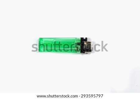 Lighter green isolated white backdrop. - stock photo