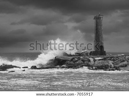 Lighthouse at Puerto Banus - stock photo