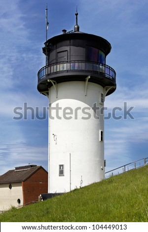 """Lighthouse """"Big Bertha"""" in Cuxhaven, Germany - stock photo"""