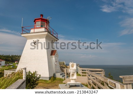 Lighthouse (Cape Enrage, New Brunswick, Canada) - stock photo