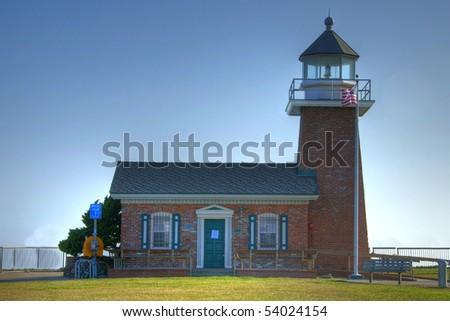 Lighthouse Field State Beach, Santa Cruz, CA - stock photo