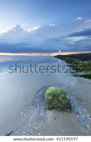 Lighthouse from Swinoujscie on the baltic sea - stock photo