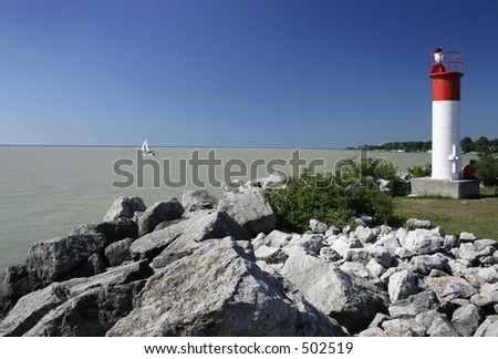 Lighthouse, Humber Bay, Toronto - stock photo