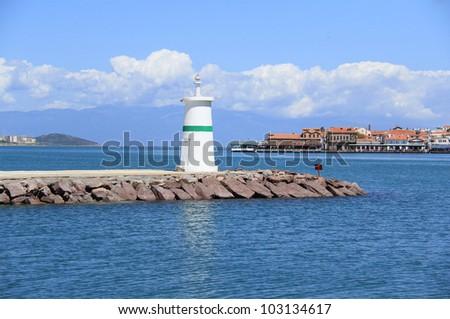 Lighthouse in Ayvalik , Turkey - stock photo