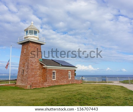 Lighthouse in California, USA - stock photo