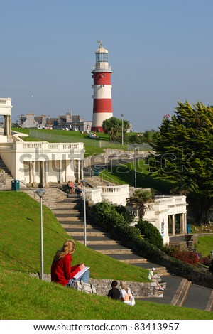 Lighthouse in Plymouth, Devon, England - stock photo