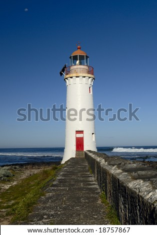 Lighthouse in Port Fairy, Australia - stock photo