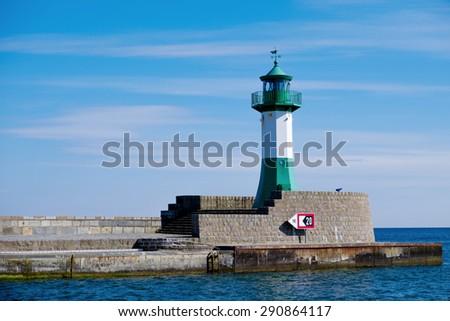 Lighthouse in Sassnitz/Germany - stock photo