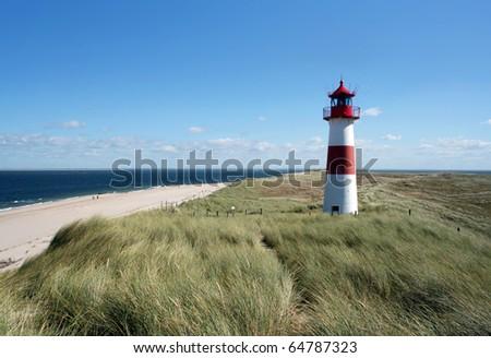 Lighthouse Island Sylt (Germany) - stock photo