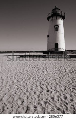 Lighthouse- Martha's Vineyard - stock photo
